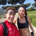 Mit Giulia Geschaftsführerin Banchetti Sport in Rom/ Italien